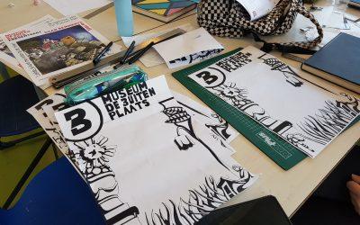 Examenleerlingen Terra Eelde ontwerpen poster Museum De Buitenplaats